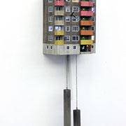 """Cuckoo Block """"Frankfurt"""", 8, red Edition, serielles Unikat    Ed. 25 ca. 90 x 27 x 18 cm"""