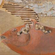 Filetstück 2 (incl. Rahmen) 2017 Linde ca. 57 x 46 x 5 cm