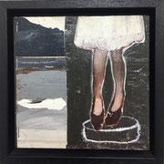 o.T. (legs) incl. Rahmen 2018 Acryl auf Leinwand 15 x 15 cm