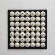 R.E.M 2017 Porzellan auf pigmentierter Holzfaser, 56 teilig 50 x 50 x 5,5 cm