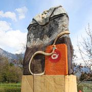 Teebeutel, 2015, Eiche, ca. 160 x 75 cm