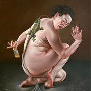 Berliner Atelier 2013 Öl auf Leinwand 107 x 95 cm