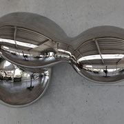 PULSAR 2 2020 wrought stainless steel Ed. 7 81 x 45 x 36 cm