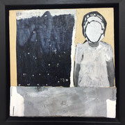 o.T. (faceless) incl. Rahmen 2018 Acryl auf Leinwand 15 x 15 cm
