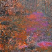 Orange Landschaft 2019 Acryl auf Leinwand 160 x 110 cm