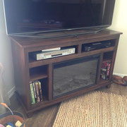 TV and Electric Fireplace Cabinet
