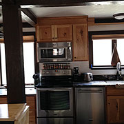 Rustic Hickory Kitchen.  Plumbing fixtures and cabinet hardware provided by Kegg's Kreations.