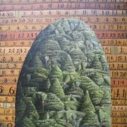 'Measurement flats',400 x400mm Oil on canvas.