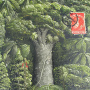 'Kauri Post IV',160 x160mm,oil on canvas
