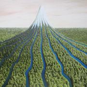'Taranki Rivers' Oil on canvas