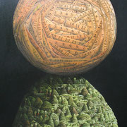 'Measured Sphere'1100 x700mm,Oil on canvas