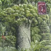 'Kauri Post II',160 x160mm,oil on canvas
