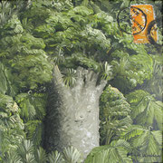 'Kauri Post V',160 x160mm,oil on canvas