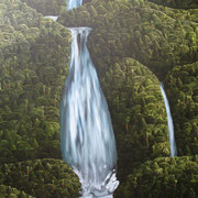'Lost waterfall',1220 x1020mm, oil on canvas
