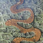 'Measurement river',400 x400mm Oil on canvas.