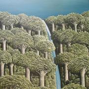 'Kauri Dam'1050 x900mm,Oil on canvas