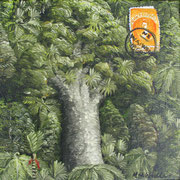 'Kauri Post III',160 x160mm, oil on canvas