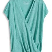 Luftiges Slub-Jersey T Shirt im Wickellook € 25,99 Esprit online