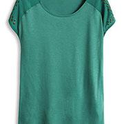 Semitransperentes Jerseyshirt € 29,99 Esprit online