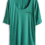 Glänzendes Jersey Shirt mit Nieten € 29,99 Esprit online