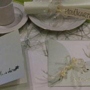 Tischdeko und Karten