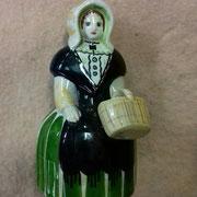 Ancien flacon à liqueur en porcelaine