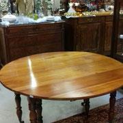 table ancienne en merisier avec 3 rallonges