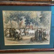 "Ancienne aquarelle ""Prevot Valeri"" Bas Normand"