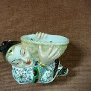 Ancien vide poche Bayeux à décor chinois