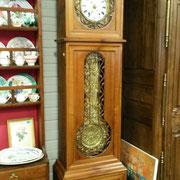 horloge ancienne en merisier