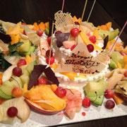 特注フルーツいっぱいショートケーキ