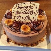 チョコバナナショートケーキ
