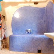 Tadelakt handgeschnitze Badewanne