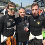 Mirko Bortolotti & Christian Engelhart Blancpain Monza 2018