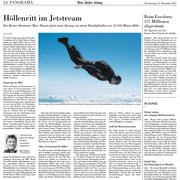 Neue Zürcher Zeitung NZZ: Bericht Jetstream Dezember 2017