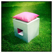 "Hocker ""Huckkasten"" - von Karin Bleiweiss, chillihead.at"