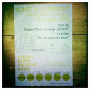 Plakat - gestaltet von herzform.at
