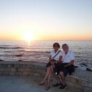 Sonnenuntergang in Baiona