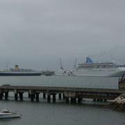 Kreuzfahrtgewimmel in Portimao