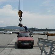 Motorwechsel in Viana de Castelo