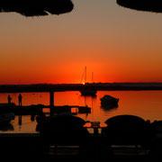 Abendstimmung in der Bucht von Alvor