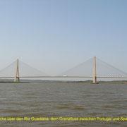 Die Autobahnbrücke Portugal  -   Spanien