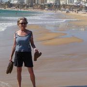 Die Praia Rocha in Portimao