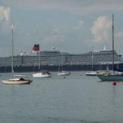Die Queen hat uns in Southampton abgesetzt und fährt weiter