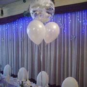 Detailansicht von Tischballonen.