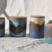 Boîtes / Collection Sommets / Céramiques ©LIT Au Grès d'Émaux