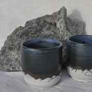 Tasses à expresso / Collection Sommets / Céramiques ©LIT Au Grès d'Émaux