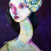 Betty,2015, acrylique sur papier, 40 x 50 cm, coll. particulière.  VENDUE / SOLD