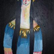 La sainte, 2015-2017, acrylique sur toile, 40 x 60 cm.