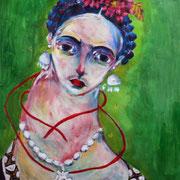 Frida Kahlo, 2018, acrylique sur papier, 50 x 65 cm .